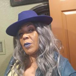 me in blue hat