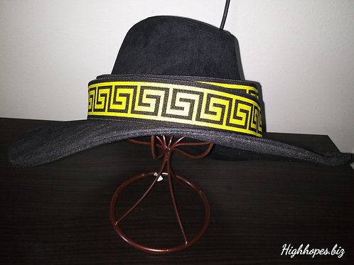 Black Suede Fedora w/ Reversible Bands
