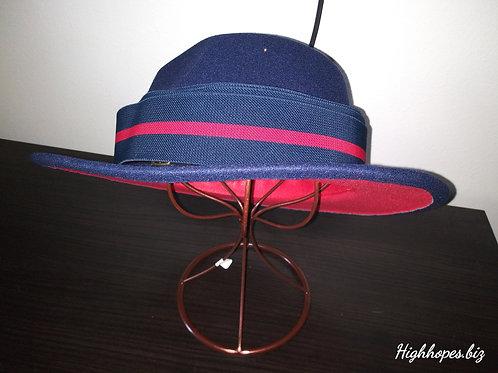 Navy Blue Custom Designer Band Red Bottom