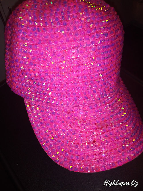 Pink Bling Baseball Cap