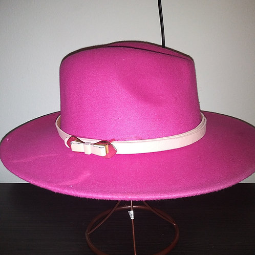 Classic Fedora With Belted Band