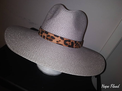 Twill Fedora With Leopard Print Bands