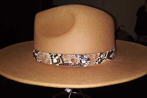 Classic Fedora With Snake Band