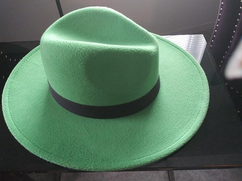 Apple Green Fedora