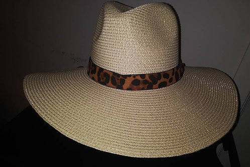 Twill Fedora With Leopard Band
