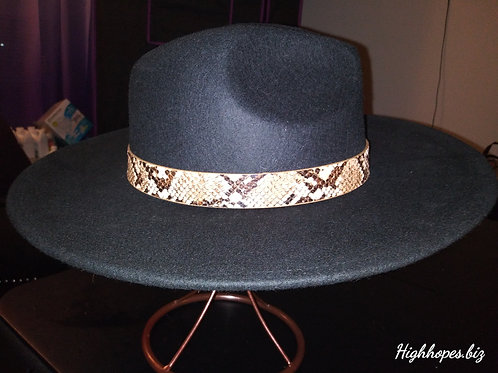 Black Fedora w/ Snake Skin Band