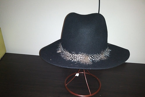 Classic Fedora With Feathers