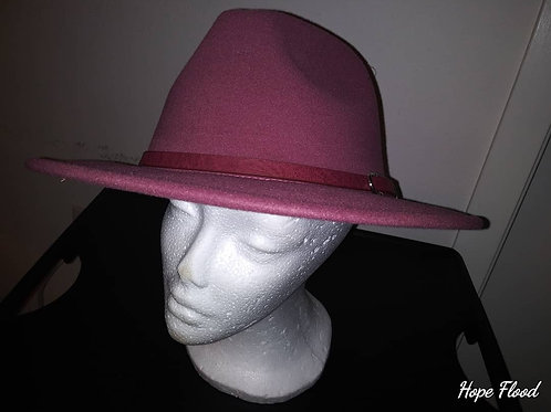 Dusty Rose Fedora w/ Belted Band