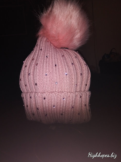 Pink Bling Beanie