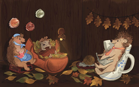 Hedgehog Family - Hibernation