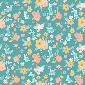 Pattern; digital; rabbit with flowers