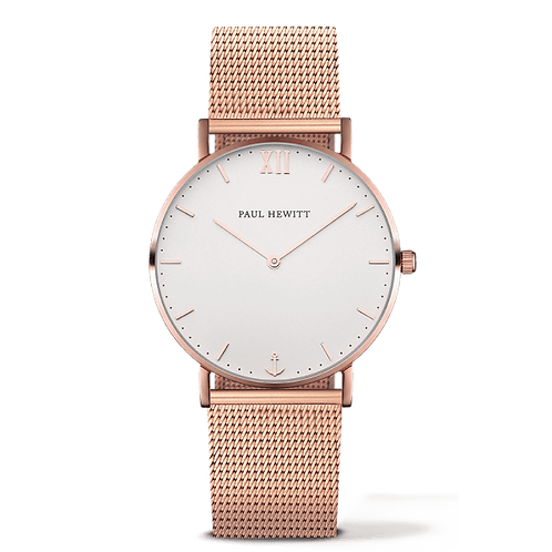 Paul Hewitt SAILOR WATCH - rose gold / white sand