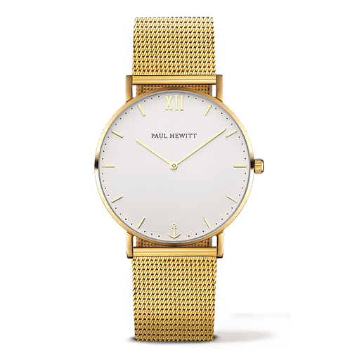 Paul Hewitt SAILOR WATCH - gold / white sand