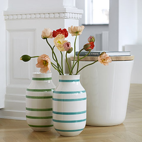 Kähler OMAGGIO floor vase | light blue