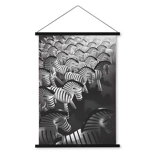 KAY BOJESEN zebra art print
