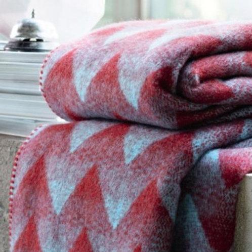 Roros blanket LYNILD red/blue
