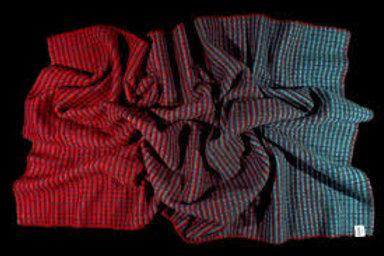 ROROS blanket AGNES red/blue/blue