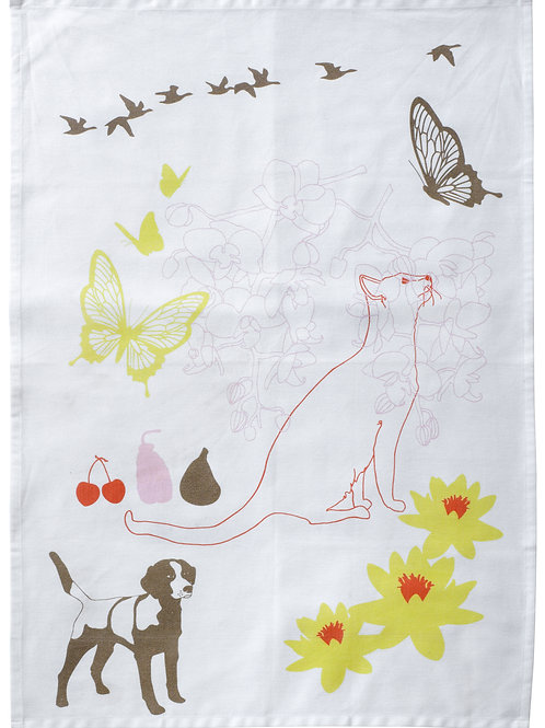 SCHJERNING kitchen towel CAT