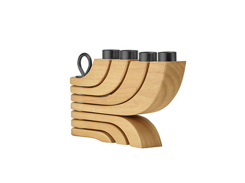 DHS candlestick NORDIC LIGHT 4 arms | oak