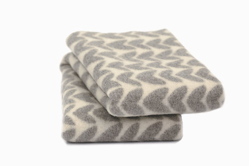 Roros blanket AKER light grey