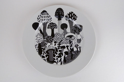 House of Rym SHROOMVILLE dinner plate