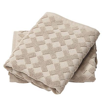MD bath towel CROSS  dark sand