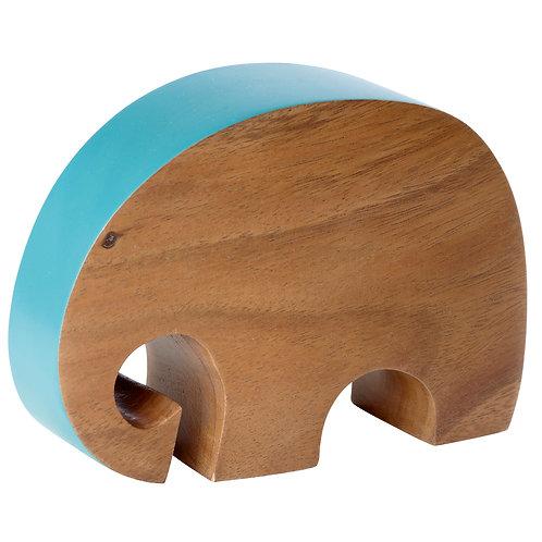 Just ELEPHANT wood | petrol blue L