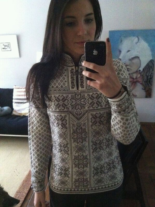 Dale of Norway sweater PEACE taupe