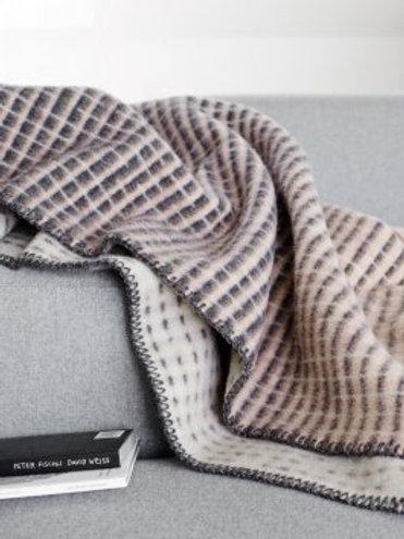 ROROS blanket AGNES grey/pink