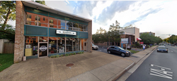Neighborhood Barbershop and driveway street view