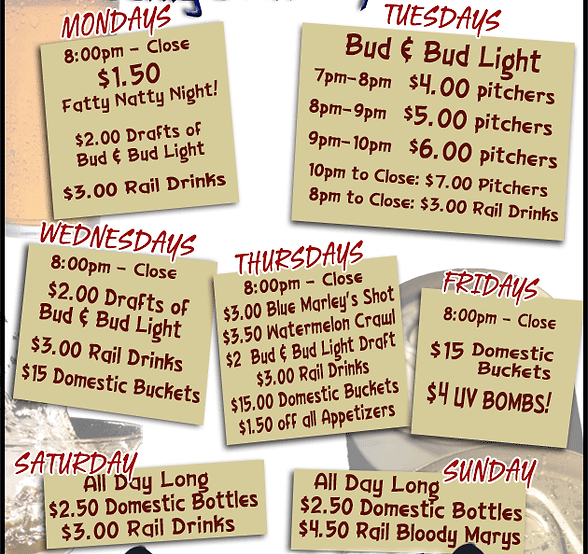 Food, Alcohol, Restaurant, Patio, sports bar, pub, non-smoking, kid friendly, karaoke, pizza, trivia, entertainment