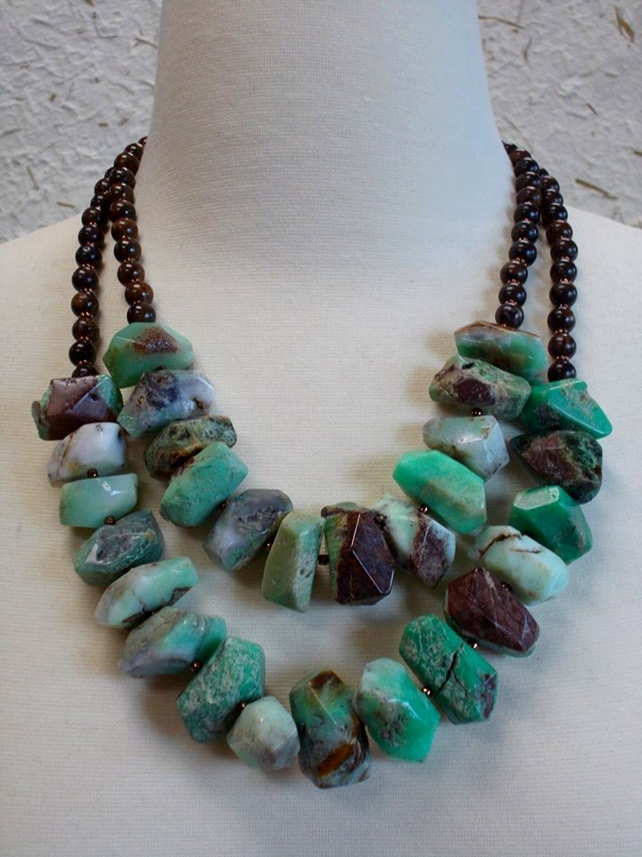 Chrysoprase and Bronzite
