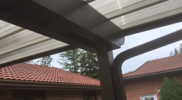Clear Smoke Color Patio Cover