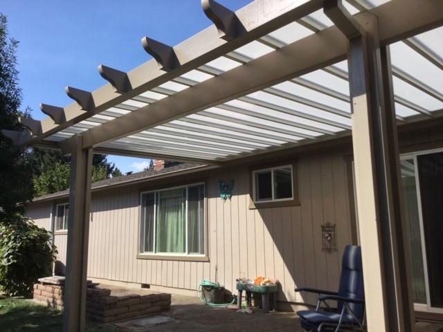 white polycarbonate panel patio cover 2.