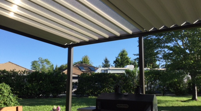 W-Panel Patio Cover with Skylights