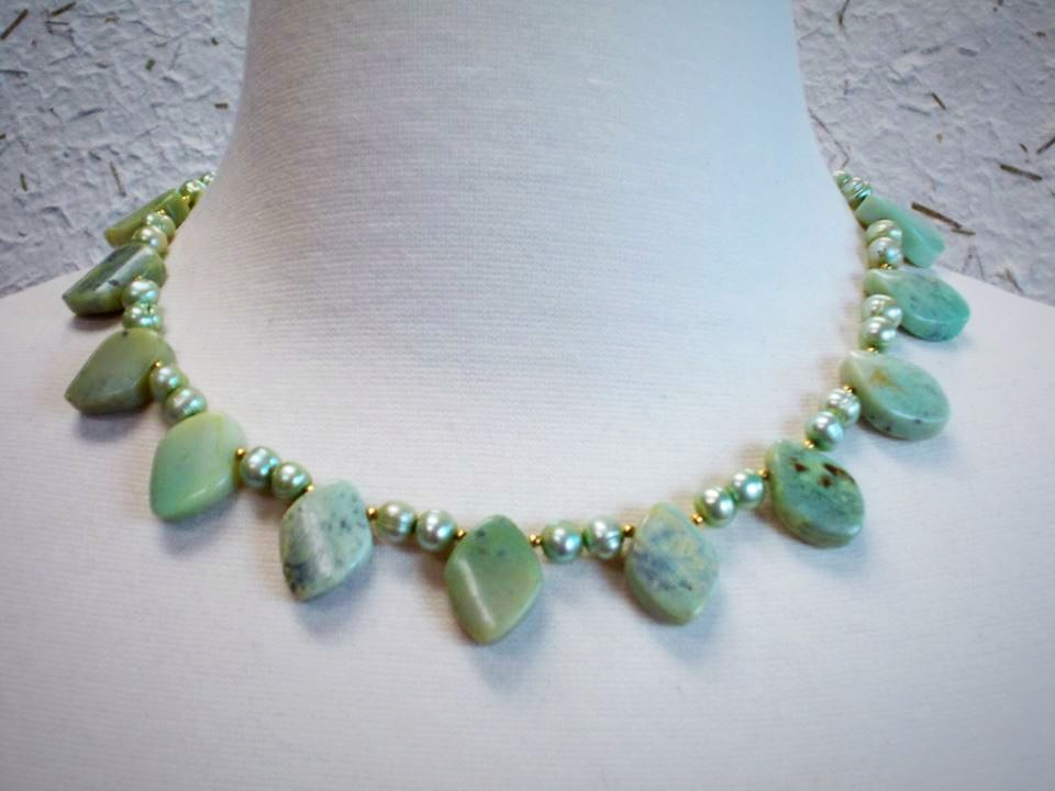 Jade and Freshwater Pearls