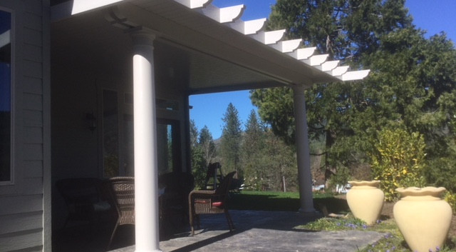 Pergola Wrapped Patio Cover with Round Columns