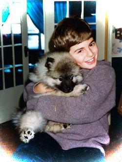 Darcy, puppy white edges