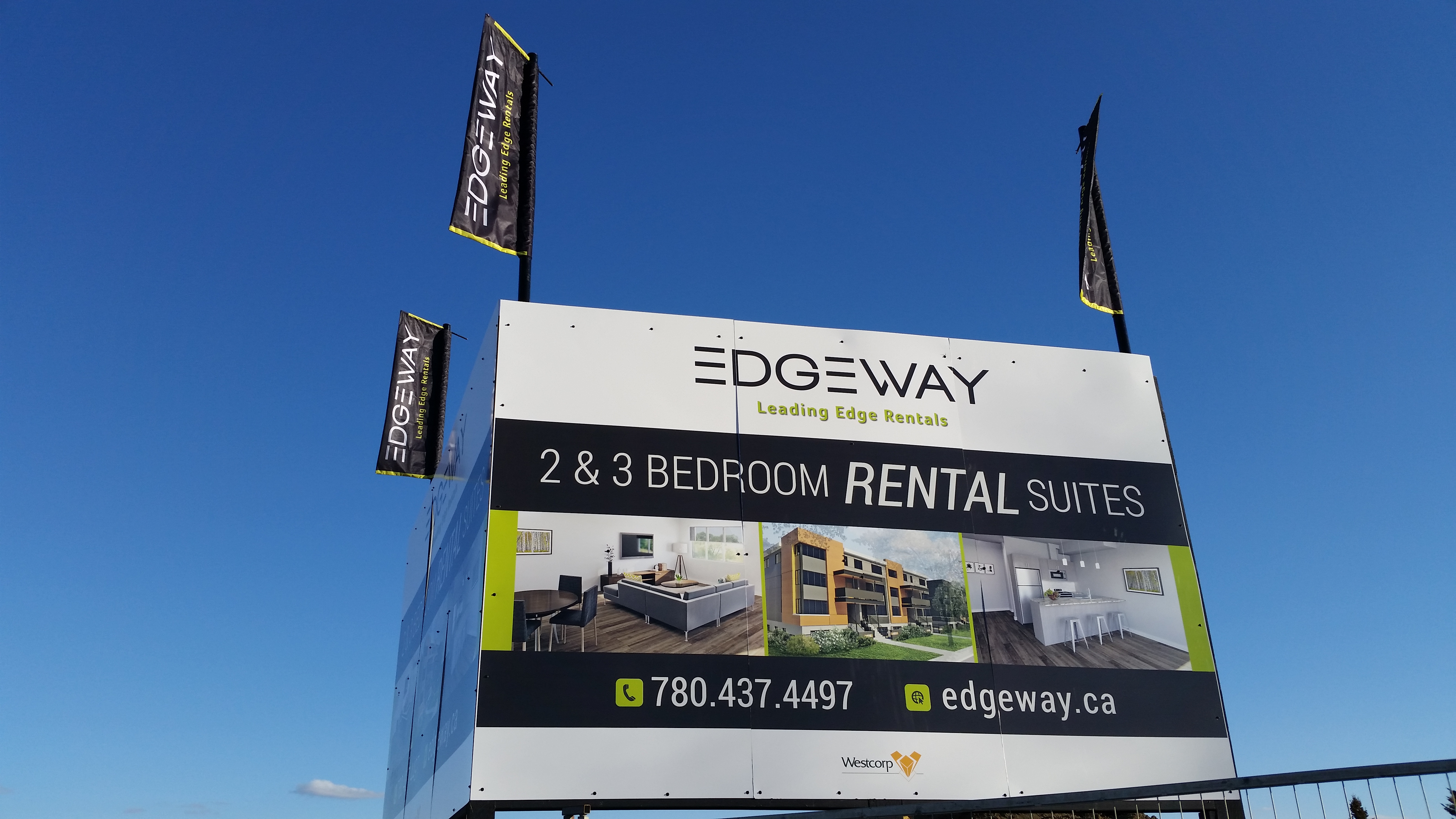 Site Signage with Flags
