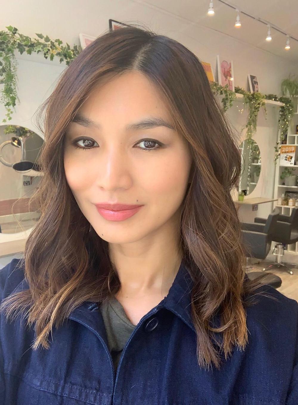 Hair colour Gemma Chan
