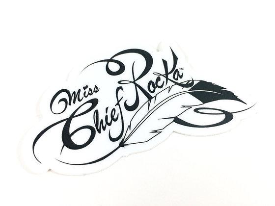 Miss Chief Rocka Stickers (White)