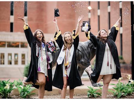 Ivy, Alexa, & Gabby | Towson University  | Towson, MD | Graduation Photos | College Graduation Pics