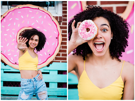 Chloe | BSA - Class of 2021 | Baltimore, MD | Food-Themed Ice Cream and Donuts Senior Session