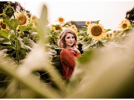 Jenna | Senior Session | Sunflower Field | Jarretsville, MD | Rising Sun High School