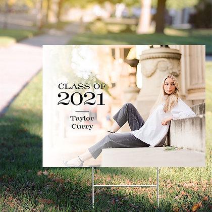 Graduate Yard Sign - Design 4 w/ Image