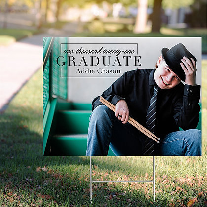 Graduate Yard Sign - Design 2 w/ Image