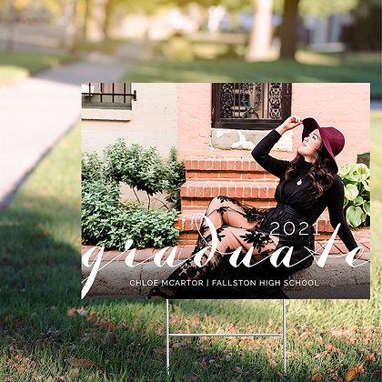 Graduate Yard Sign - Design 1 w/ Image