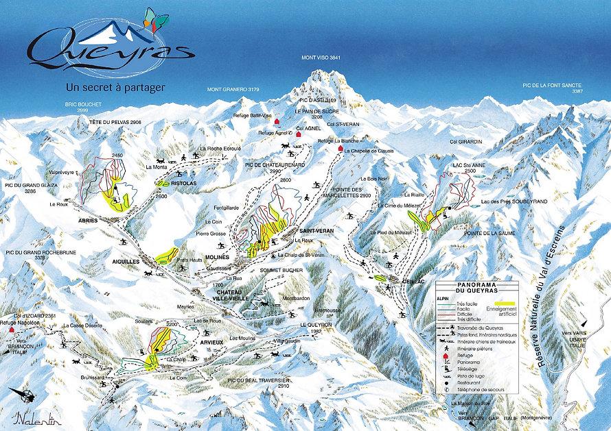 Plan des pistes du Queyras