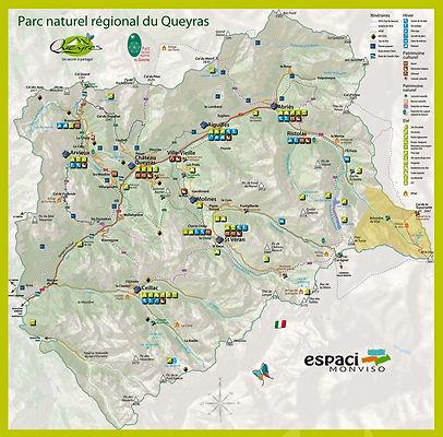 carte du Parc naturel regional du Queyras