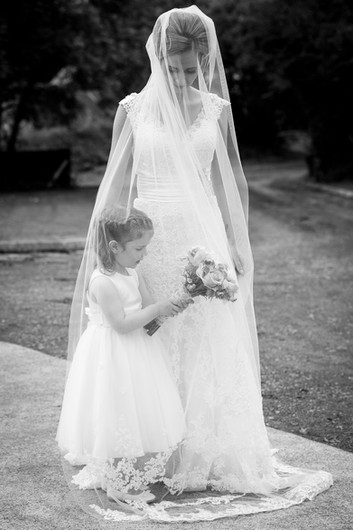 Bridal Prep; Black and white